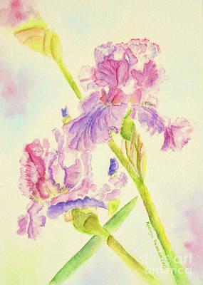Iris Painting - Violet Irises by Kathryn Duncan