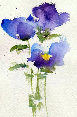 Pansy Painting - Violets by Anne Duke