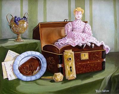 Violets Attic Print by Tanja Ware