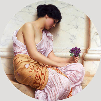 John William Godward Painting - Violets Sweet Violets by John William Godward