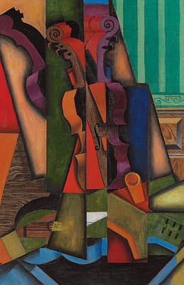 Violin Painting - Violin And Guitar by Juan Gris