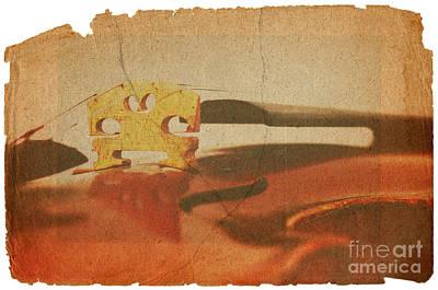 Violin Digital Art - Violin Bridge by Michal Boubin
