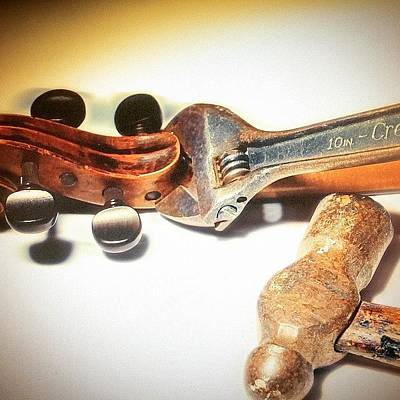 Music Photograph -  Violin Mechanics  by Jacob Smith