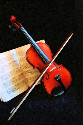 Violin Impression Print by Kristin Elmquist
