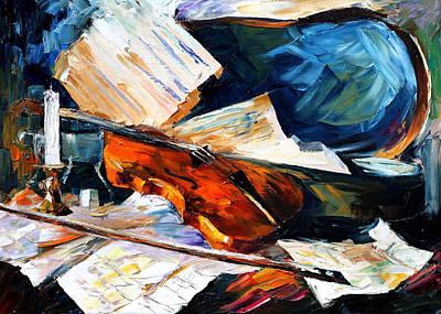 Violin Original by Leonid Afremov