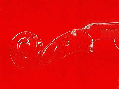 Violin Red Original by Fabio Mocera