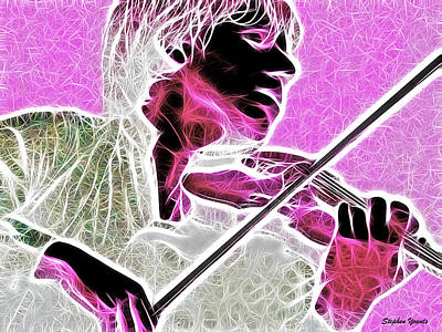 Violin Print by Stephen Younts