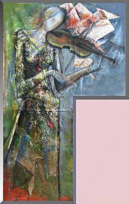 Violinist Woman Print by Giorgi Kobiashvili