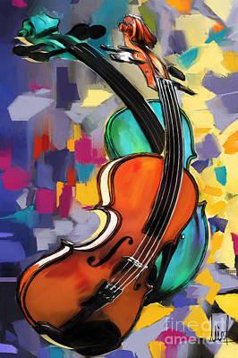 Violins Original by Melanie D