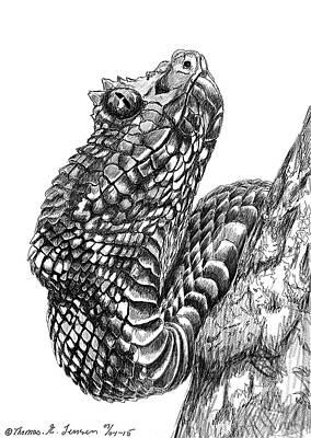 Viper Drawing - Viper by ThomasE Jensen