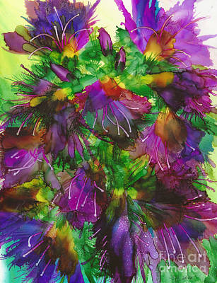Viper Painting - Viper's Bugloss by Sara Baldwin