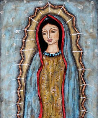 Rain Ririn Painting - Virgen De Guadalupe by Rain Ririn