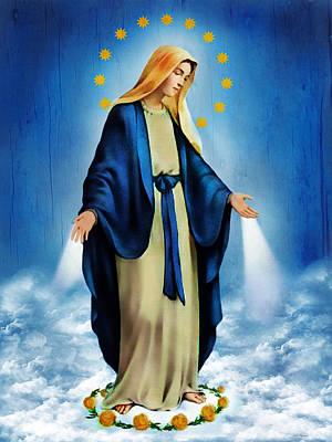 Miraculous Photograph - Virgen Milagrosa by Bibi Romer