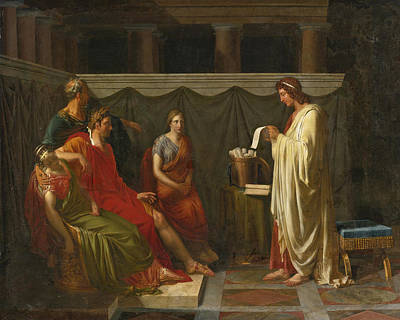 Painting - Virgil Reading His Aeneid To Augustus by Jean-Bruno Gassies