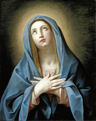 Guido Reni Painting - Virgin In Prayer by Guido Reni