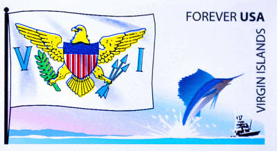 Patriotism Painting - Virgin Islands Flag by Lanjee Chee