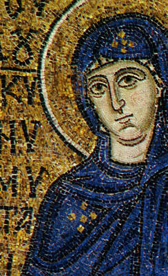 Byzantine Painting - Virgin Mary by Byzantine School