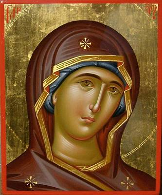 Painting - Virgin Mary by Daniel Neculae