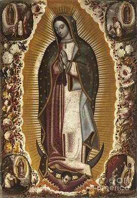 Virgen De Guadalupe Painting - Virgin Of Guadalupe by Manuel Arellano