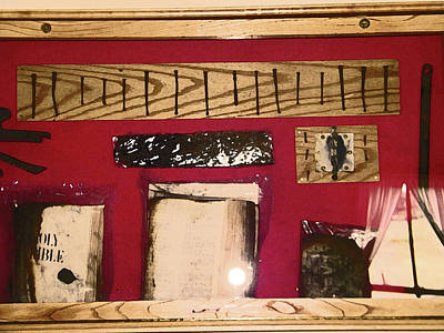 Relic Glass Photograph - Virginia Dale - Burn Relics In Red by Lenore Senior