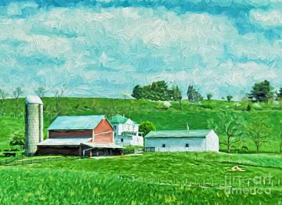 Barn Painting - Virginia Farmland by Kerri Farley