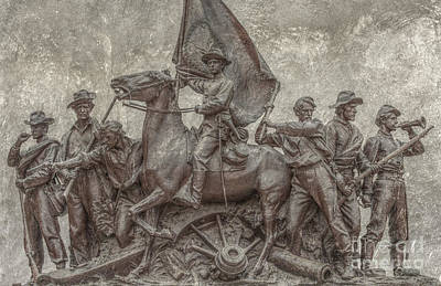 Virginia Monument Gettysburg Battlefield Print by Randy Steele