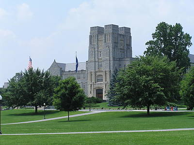 Virginia Tech - Burress Hall 3 Print by Andrew Webb
