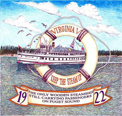 Virginia V Tee Shirt Original by Jack Pumphrey