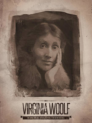 Bar Painting - Virginia Woolf by Afterdarkness