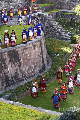 Winter Solstice Photograph - Virgins Of The Sun At Inti Raymi Festival by James Brunker