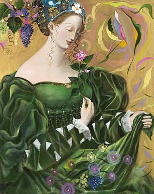 Vines Painting - Virgo by Annael Anelia Pavlova