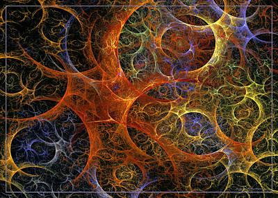 Green Digital Art - Virile Moment by Sipo Liimatainen