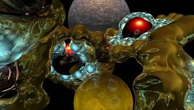 Other Worlds Digital Art - Virus by David Lane