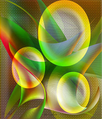 Abstract Digital Drawing - Vision 3 by Iris Gelbart