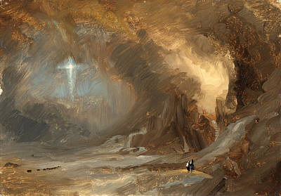 Vision Painting - Vision Of The Cross by Frederic Edwin Church