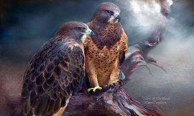 Hawk Mixed Media - Vision Of The Hawk by Carol Cavalaris