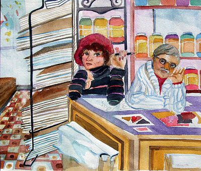 Visiting The  Art Supply Store Original by Mindy Newman