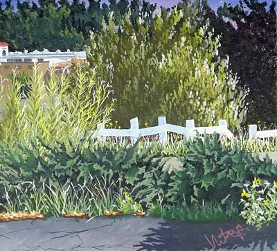 Bamboo Fence Painting - Vista California by Hector Perez