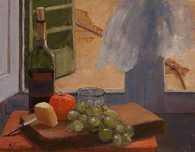 Italian Wine Painting - Vista Dalla Finestra by Katherine Seger