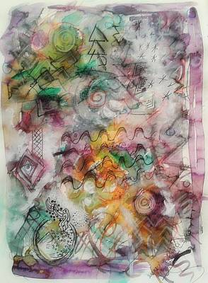 Subconscious Mixed Media - Visual Language by Mimulux patricia no
