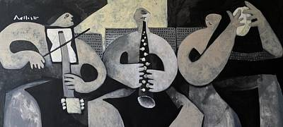 Turkey Mixed Media - Vitae The Musicians  by Mark M Mellon