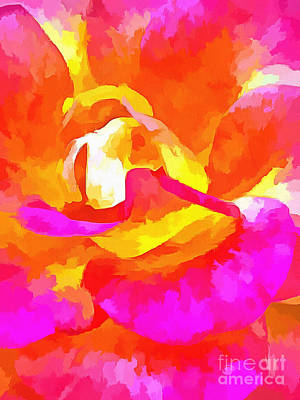 Colorful Roses Photograph - Vivid Energy by Krissy Katsimbras