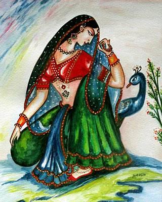 Pahari Painting - Viyog by Harsh Malik