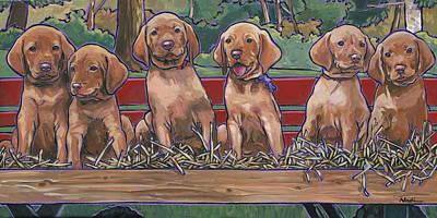 Vizsla Pups Print by Nadi Spencer