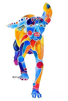 Vizsla Running  Print by Jo Lynch