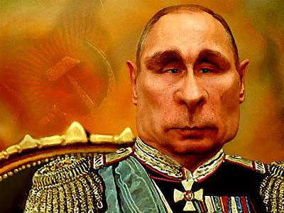 Statesmen Digital Art - Vladimir Putin by Hans Neuhart