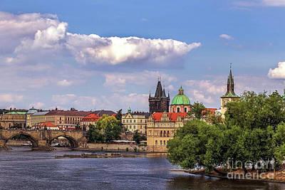 Vltava River Digital Art - Vltava River - Czech Republic by Doc Braham