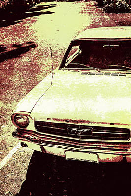 Vntage Ford Mustang Classic Car Print by Jorgo Photography - Wall Art Gallery
