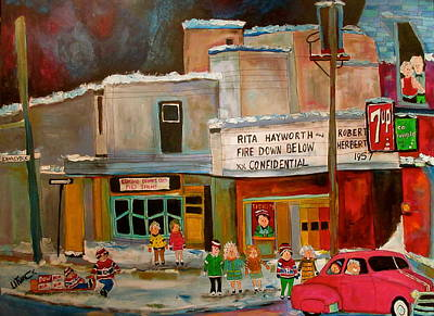 Seven Up Sign Painting - Vogue Theatre Montreal Memories by Michael Litvack
