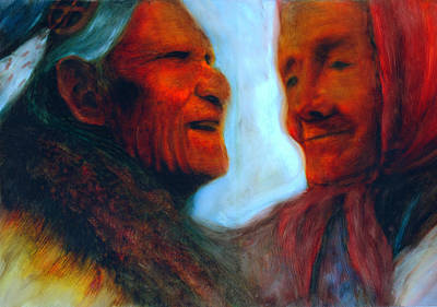 First Tribes Painting - Voices Of Our Ancestors by FeatherStone Studio Julie A Miller